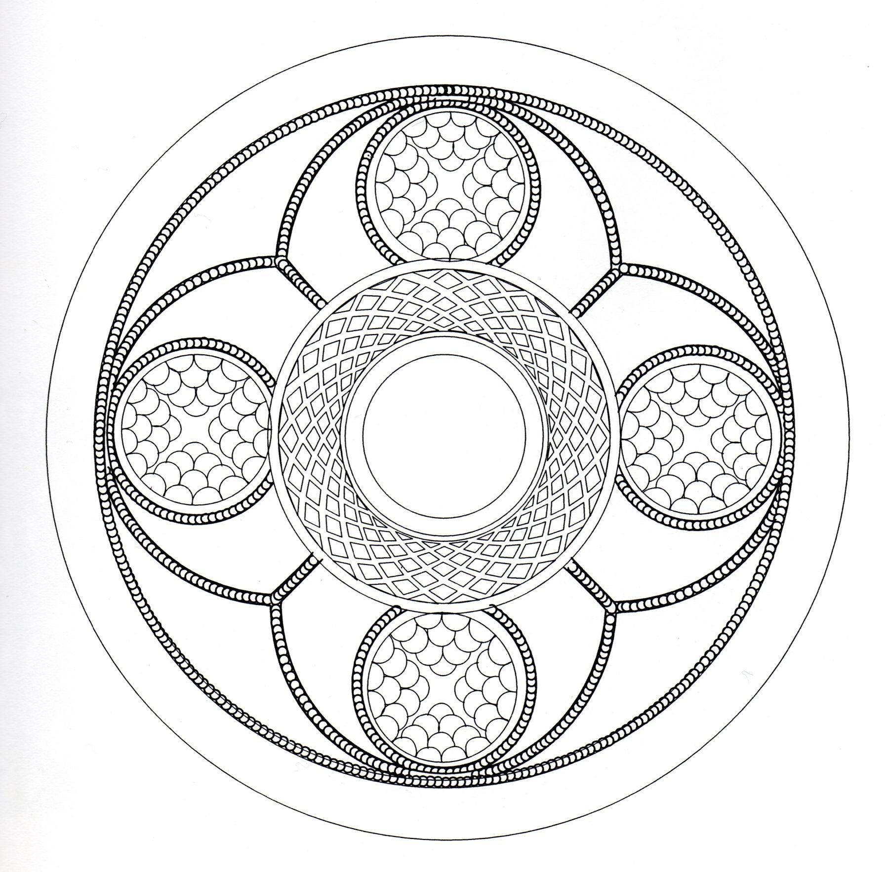 Art celtique ressemblant à un Mandala