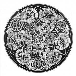 Coloriage art celtique 23