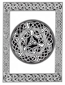 Coloriage art celtique 28