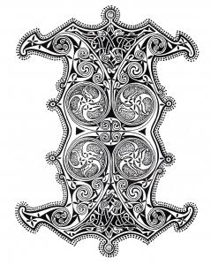 Coloriage art celtique 30
