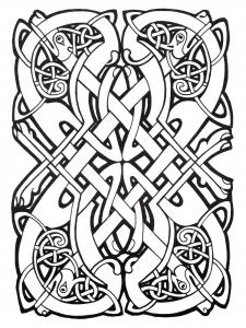 Coloriage art celtique 39