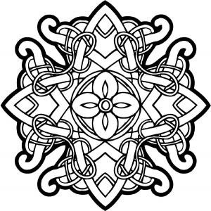 Coloriage art celtique 64