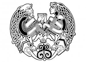 Coloriage art celtique 65
