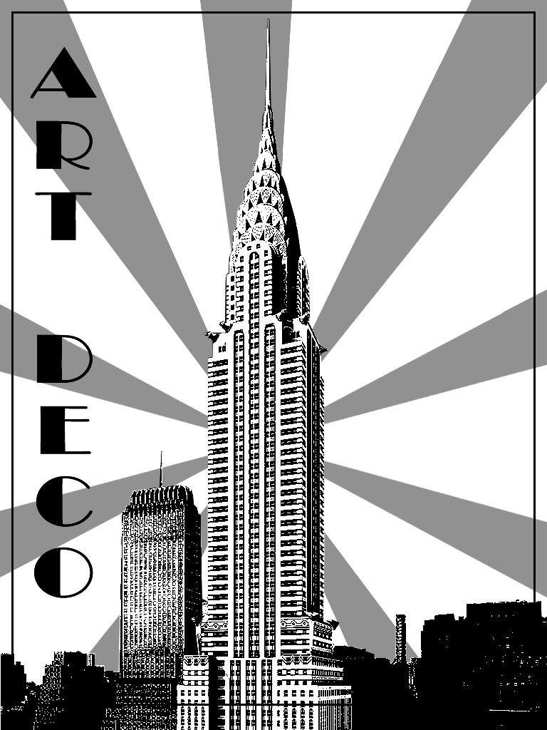 Représentation du Chrysler Building, représentatif Art Deco