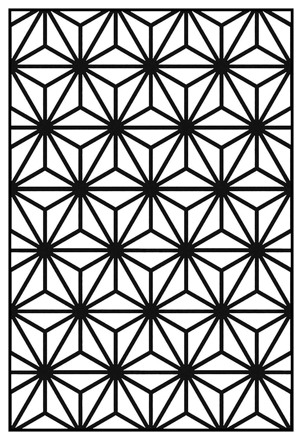 Motif Art Déco à colorier - Style n°10