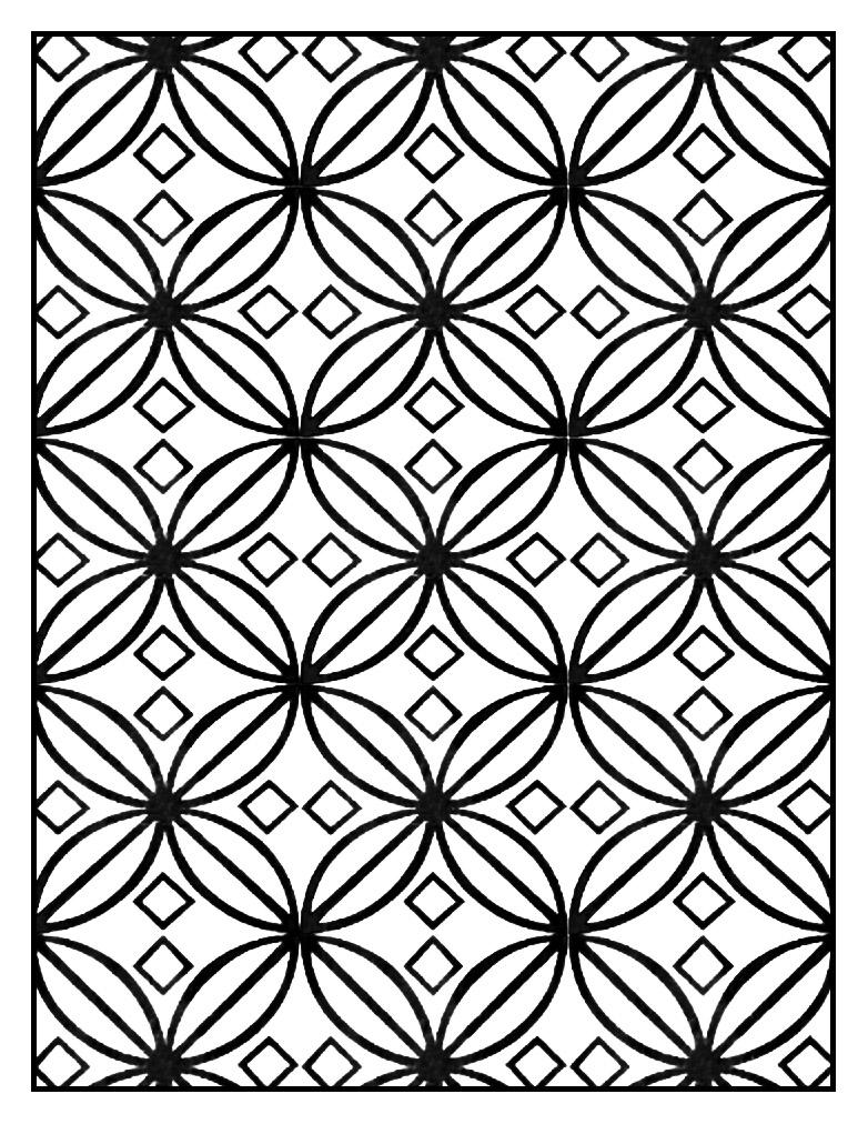 Motif Art Déco à colorier - Style n°6