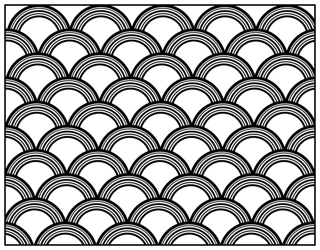Motif Art Déco à colorier - Style n°8