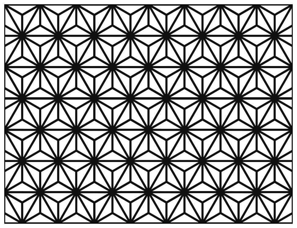 Motif Art Déco à colorier - Style n°9