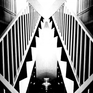 Coloriage adulte escaliers art deco style
