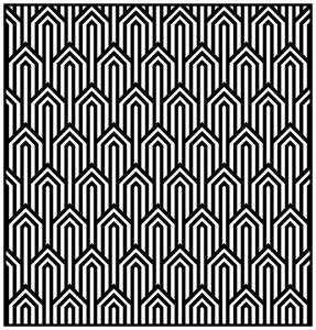Coloriage adulte motifs geometriques art deco 1