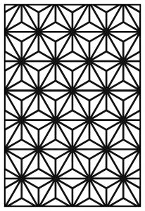 Coloriage adulte motifs geometriques art deco 10