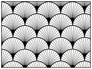 Coloriage adulte motifs geometriques art deco 2