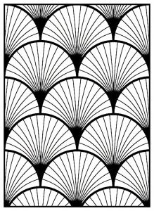 Coloriage adulte motifs geometriques art deco 3