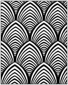 Coloriage adulte motifs geometriques art deco 4