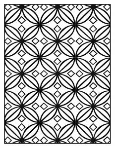 Coloriage adulte motifs geometriques art deco 6