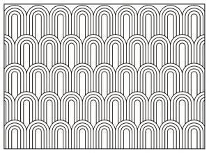 Coloriage adulte motifs geometriques art deco 7
