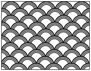 Coloriage adulte motifs geometriques art deco 8