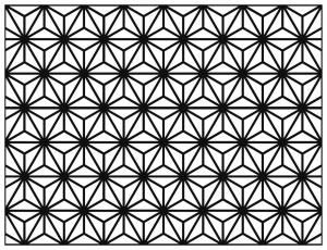 Coloriage adulte motifs geometriques art deco 9