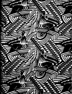 Coloriage adulte textile russe art deco