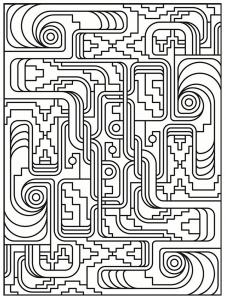 Coloriage art deco motifs simples