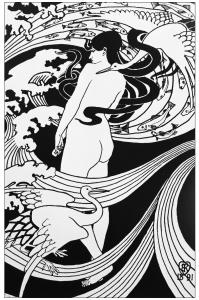 coloriage-adulte-art-nouveau-dessin-natura-naturans-1891-par-robert-burns free to print