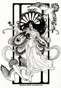 coloriage-adulte-dessin-inspiration-art-nouveau3 free to print