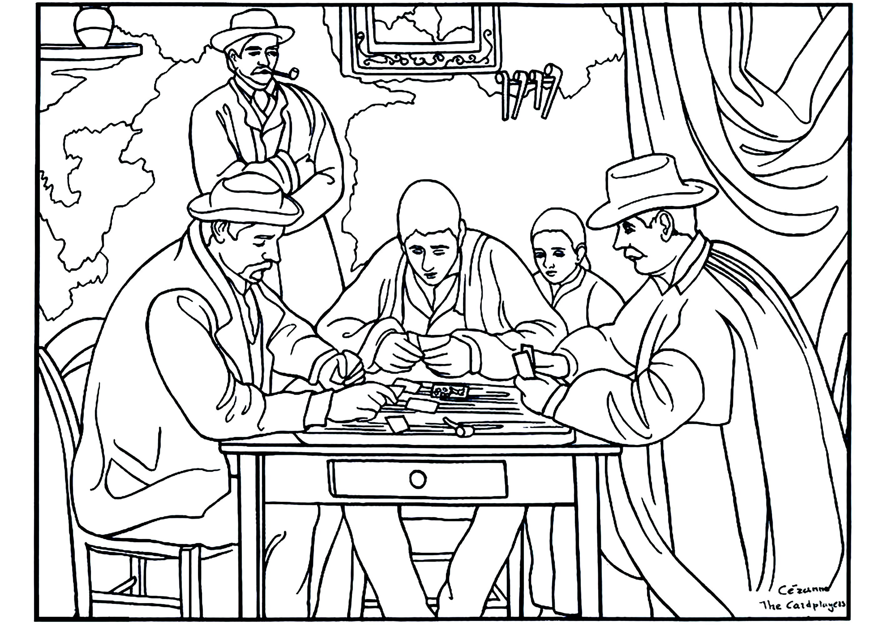Cezanne les joueurs de carte