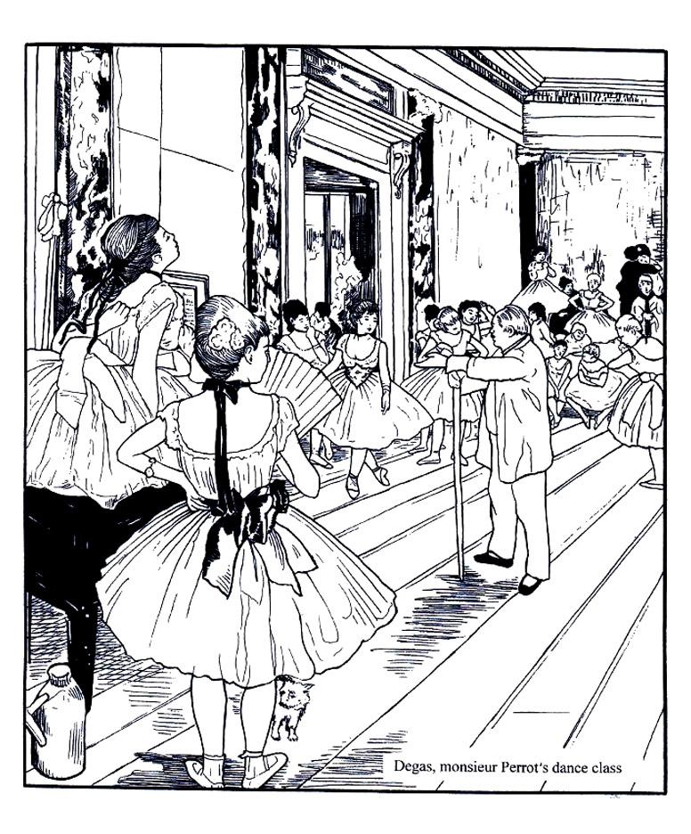Coloriage Anti Stress Danse.Degas La Classe De Danse Chefs D œuvres Coloriages