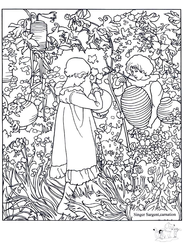 John singer sargent carnation lily lily rose - Image avec : Lily, Rose-ii- (1886)-br-John Singer Sargent (1856-c-1925)