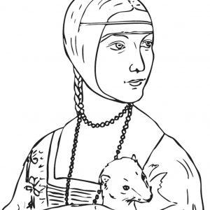 Origin la dame a l hermine leonardo da vinci jpg i la dame - Dessin de leonard de vinci ...