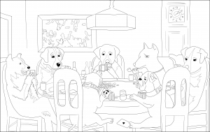 """coloriage-adulte-a-friend-in-need"""" free to print"""