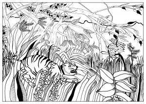 Coloriage adulte dessin coloriage Douanier par valentin