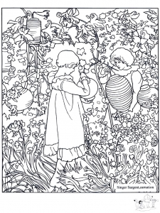 Coloriage adulte john singer sargent carnation lily lily rose
