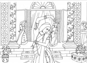 coloriage adulte danseuses d inde par marion c