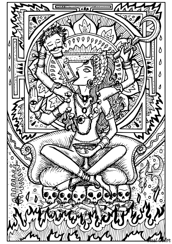 Dans l'hindouisme, Kâli est la déesse de la préservation, de la transformation et de la destruction