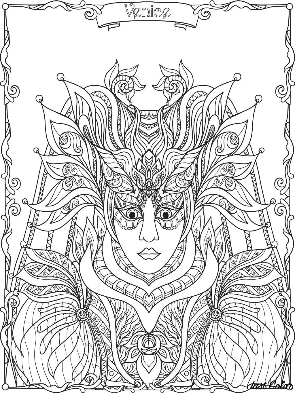 Costume et masque du carnaval de venise carnaval - Dessin costume ...