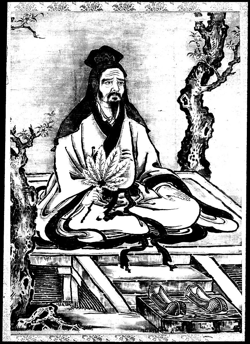 Confucius assis en position de lotus, à imprimer et colorier | A partir de la galerie : Chine Asie
