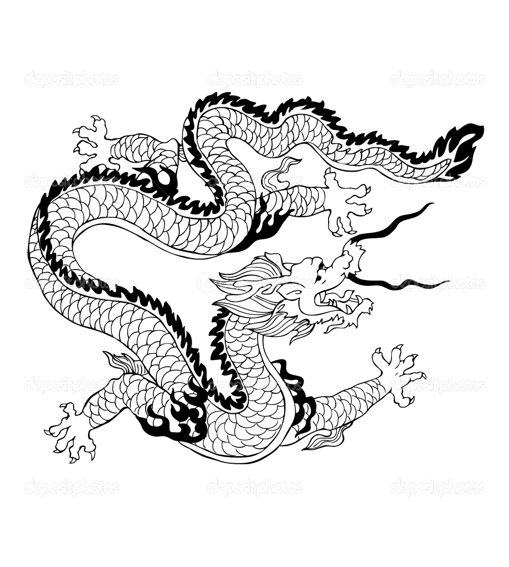 Dragon chinois chine asie coloriages difficiles pour - Coloriage chine ...