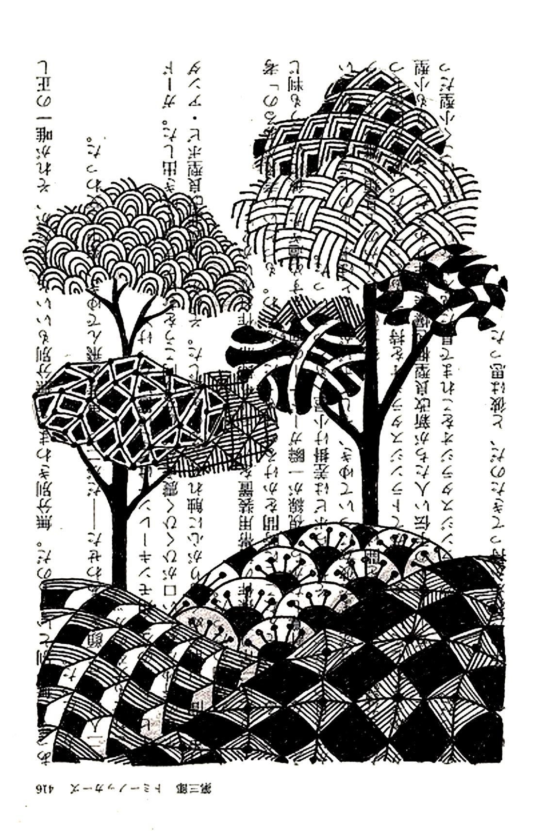 Dessin style chinois arbres encre de chineA partir de la galerie : Chine Asie