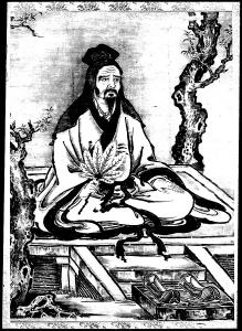 coloriage-adulte-confucius-et-disciples free to print