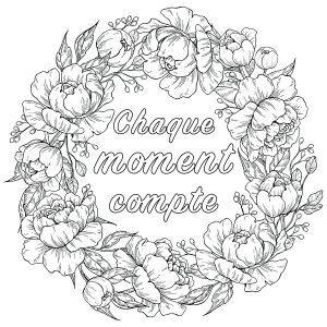 Coloriages Citations inspirantes et Phrases Zen (EN FRANÇAIS)