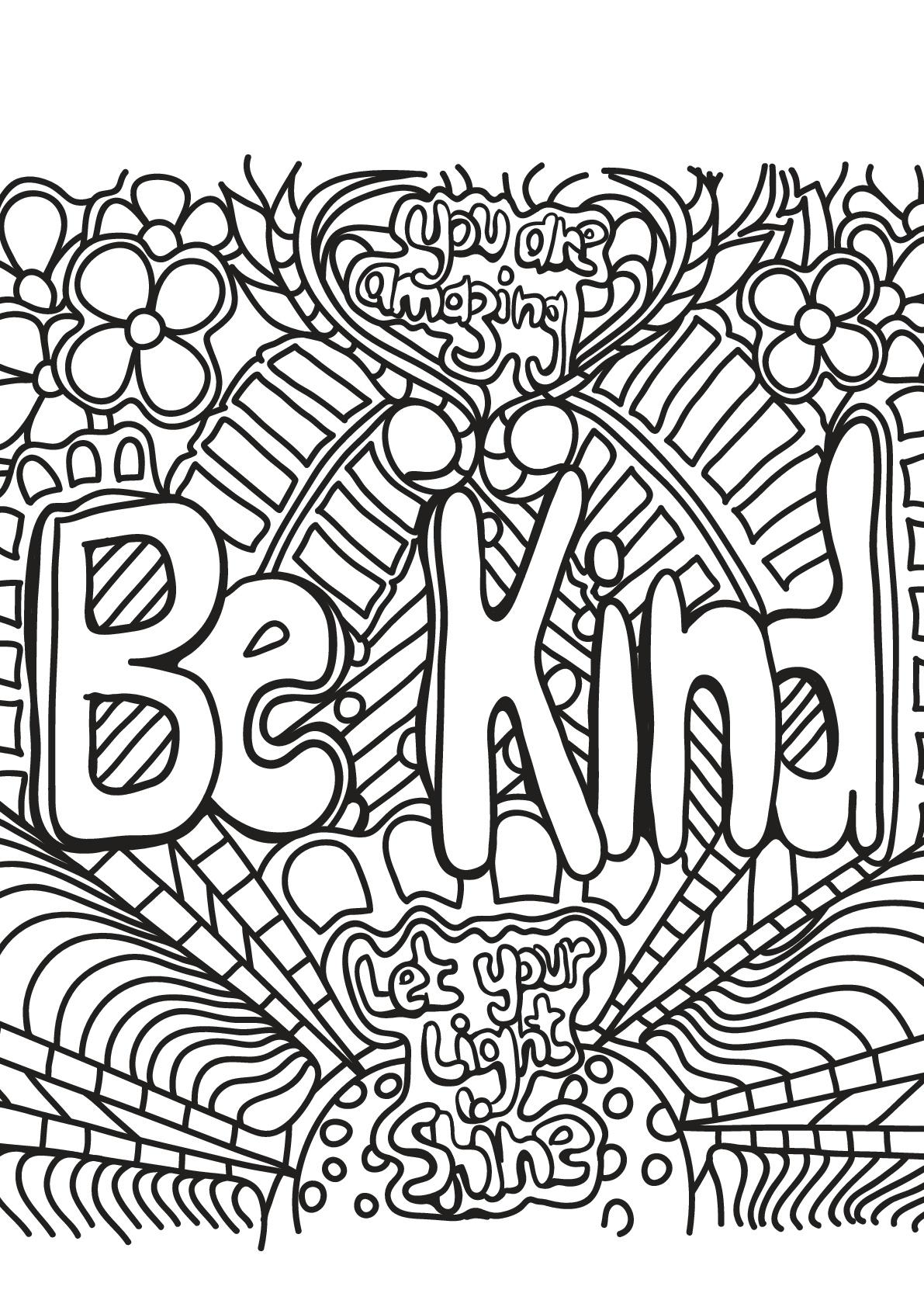 Be kind (Soyez gentils)