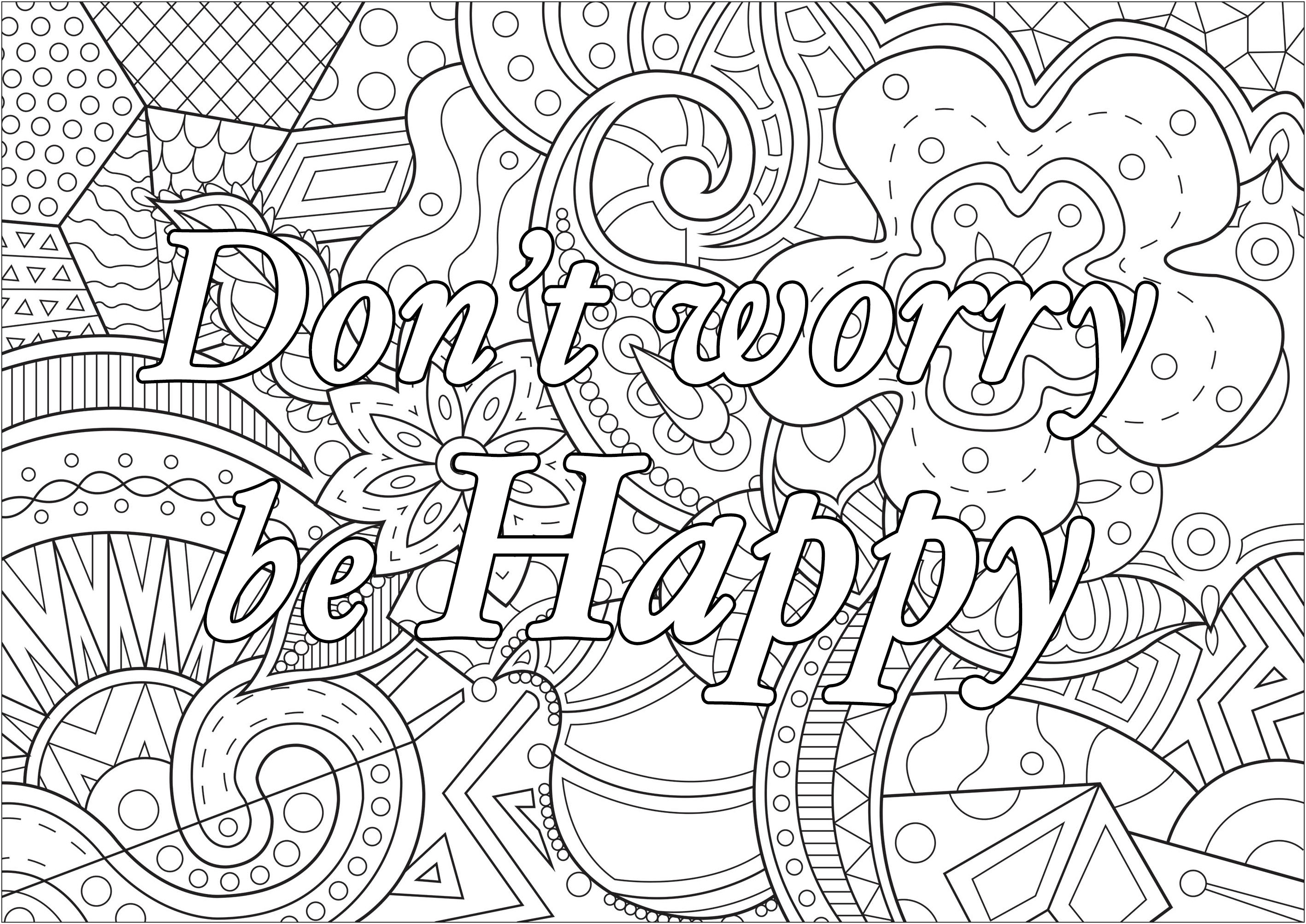 Don't worry be happy (Ne t'inquiète pas, sois joyeux)