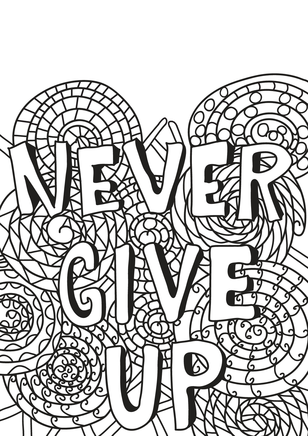 Never give up (Ne jamais abandonner)