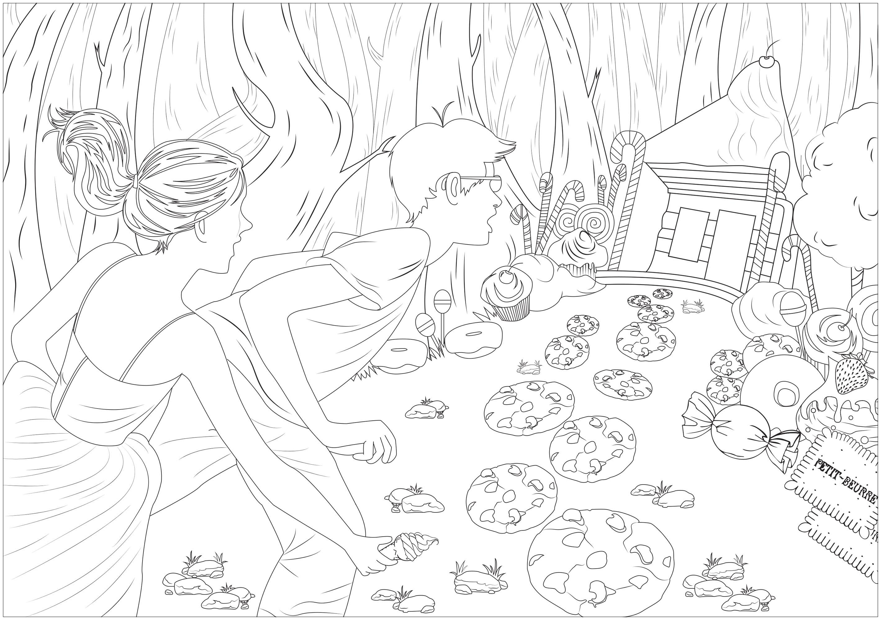 Illustration inspirée par Hansel & Gretel, conte populaire recueilli par les frères Grimm