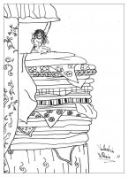 coloriage-adulte-princesse-petit-pois free to print
