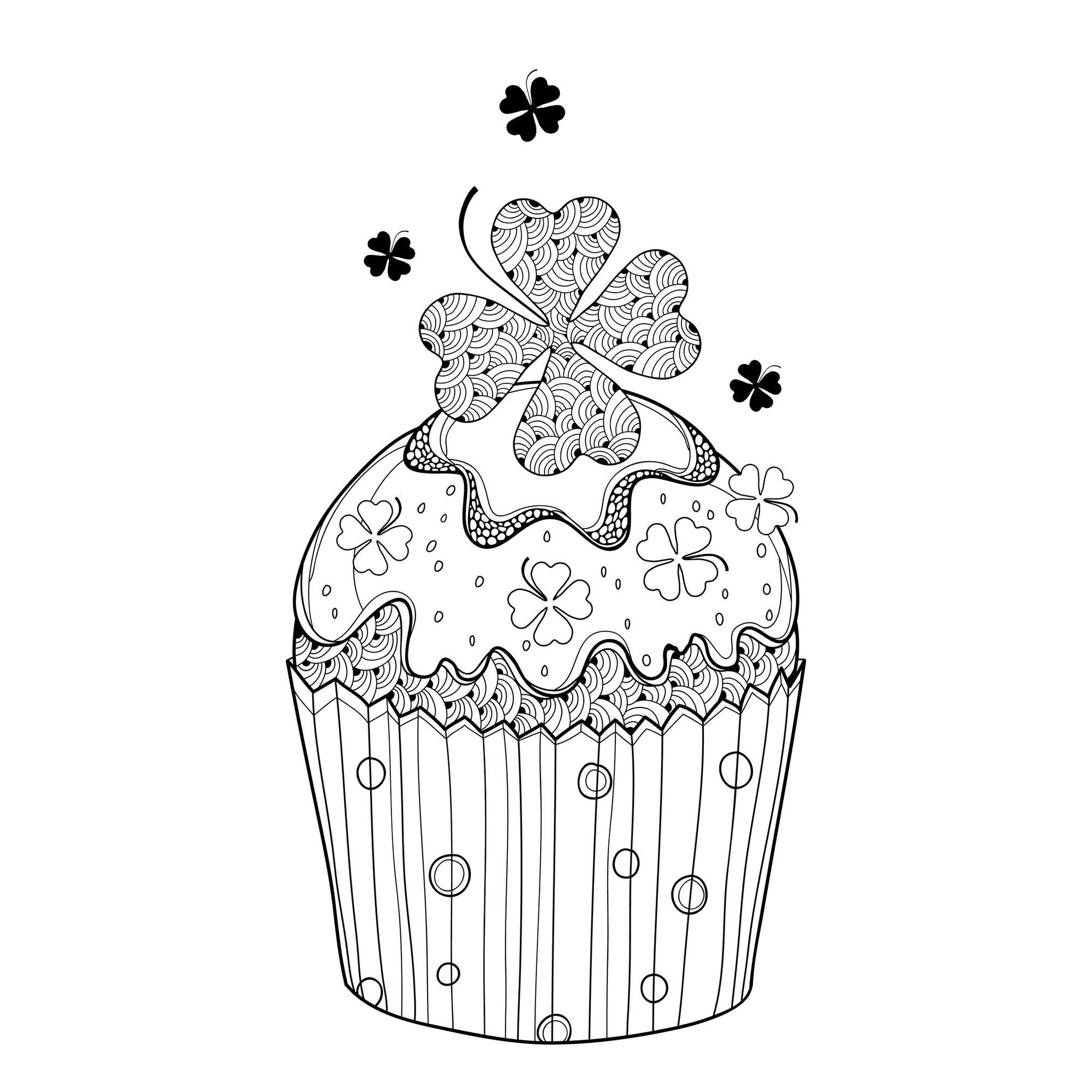 Le trèfle sucré - Cupcakes et gâteaux - Coloriages ...