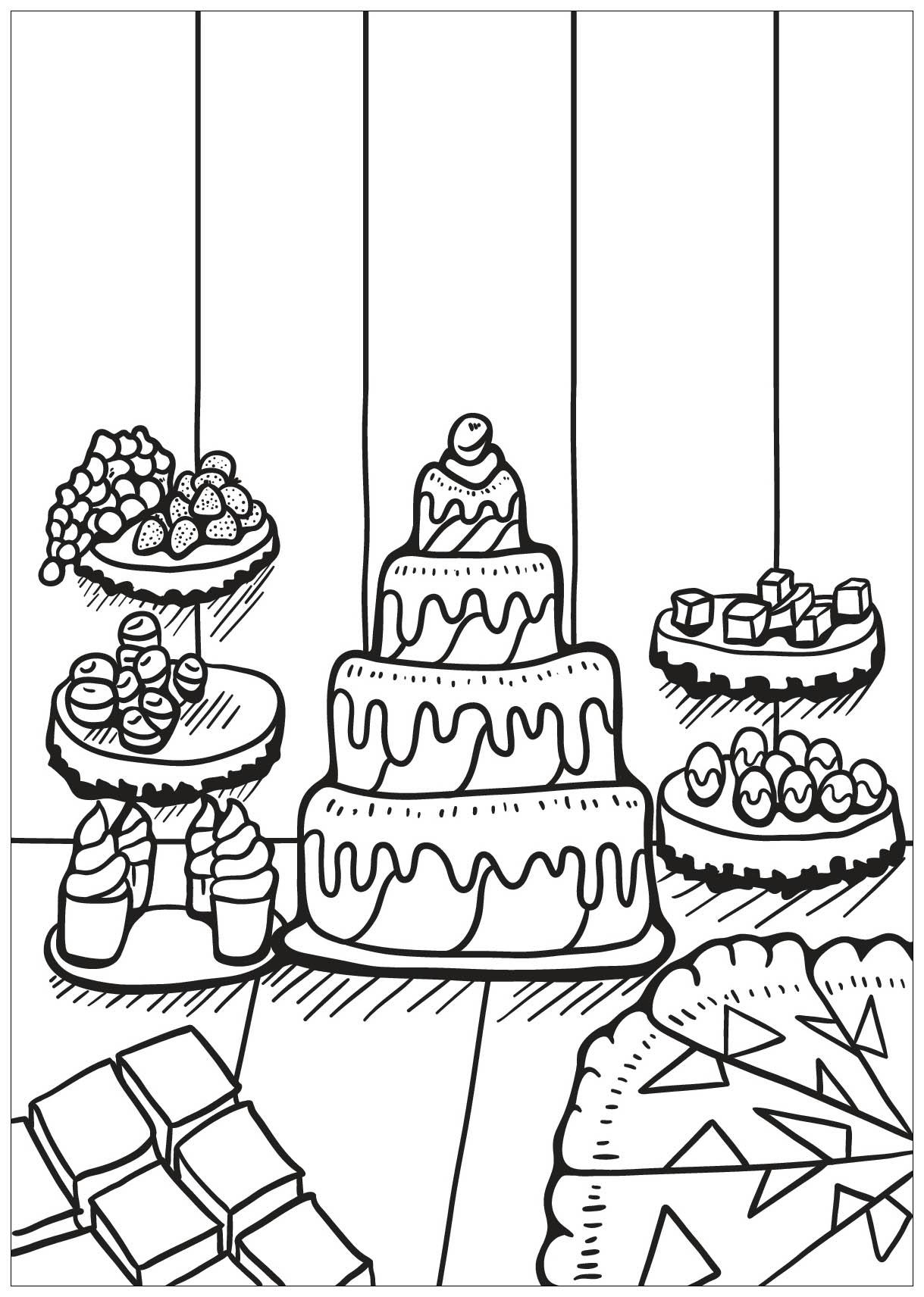 Coloriage Gateau Cake.Livre Gratuit Cupcake 2 Cupcakes Et Gateaux Coloriages