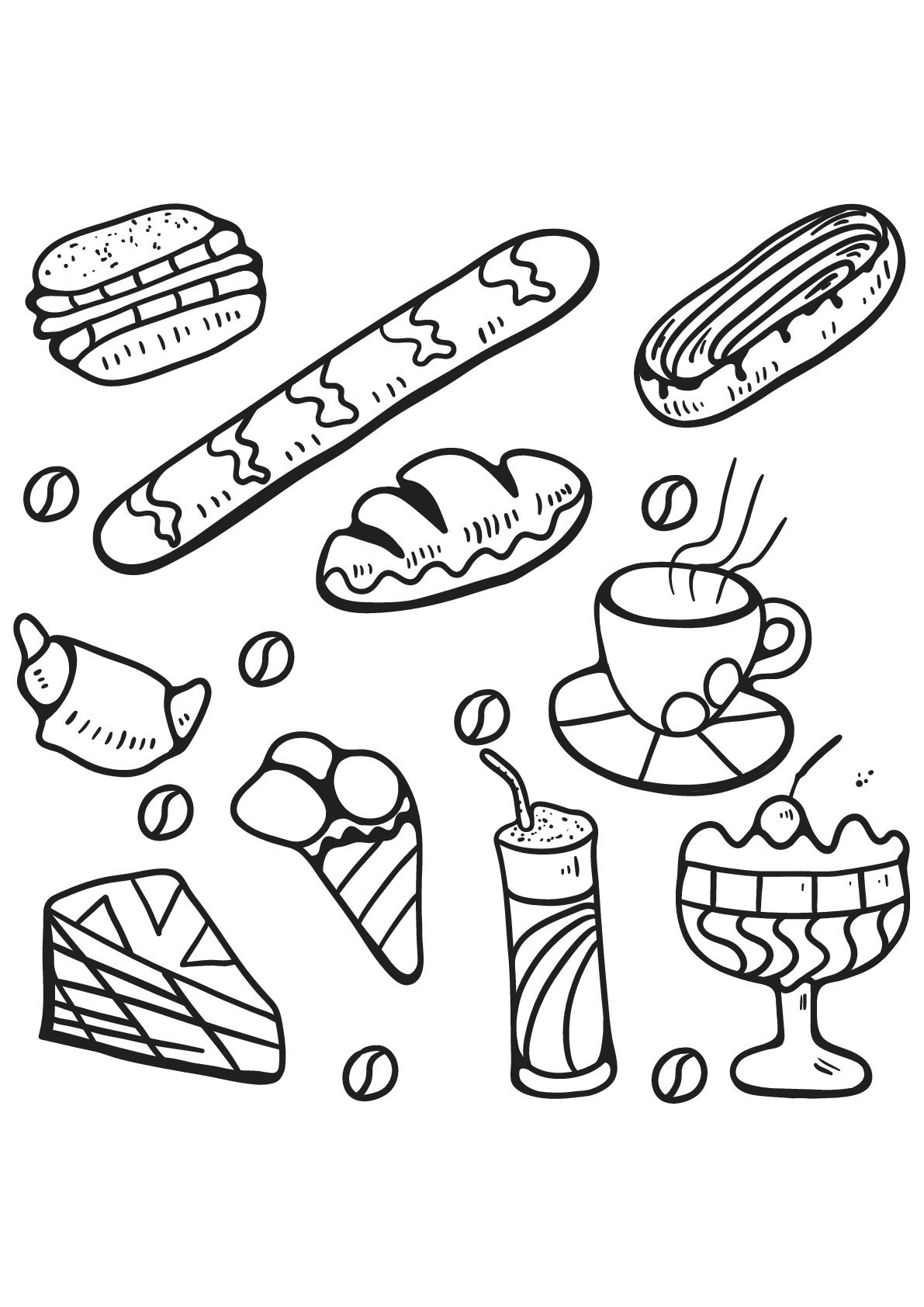 Livre gratuit cupcake 5 - Cupcakes et gâteaux - Coloriages ...