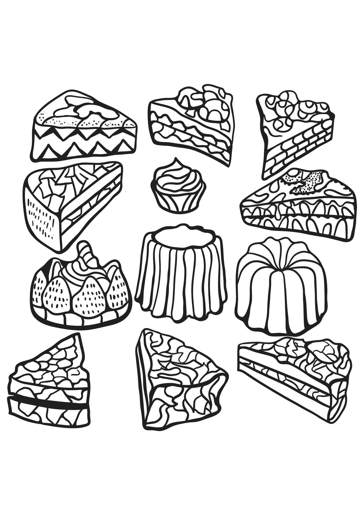 Livre gratuit cupcake 6 - Cupcakes et gâteaux - Coloriages ...
